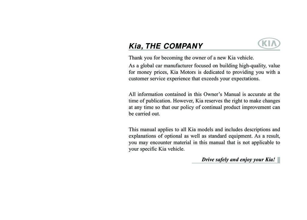 2015 Kia Sportage owners manual