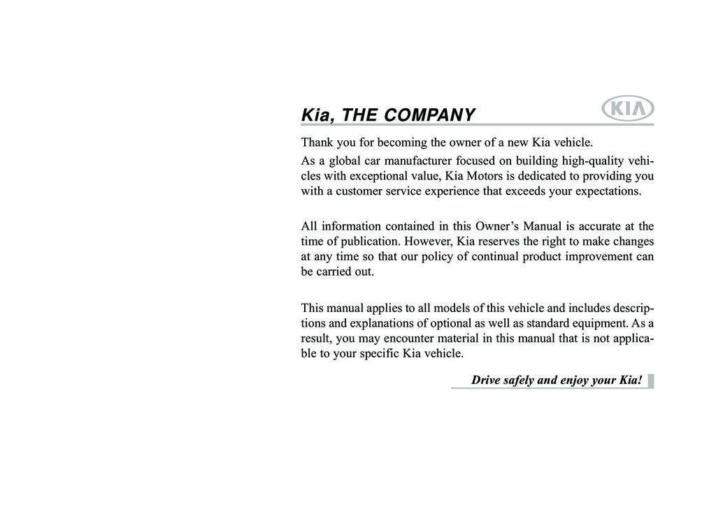 2016 Kia Cadenza owners manual