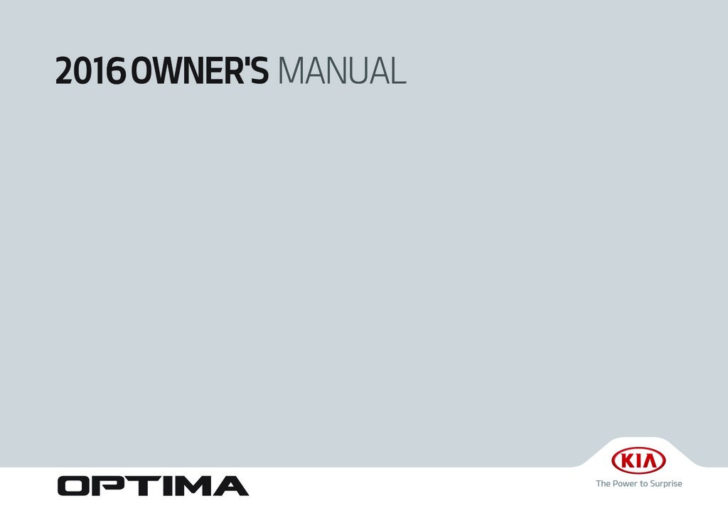 2016 Kia Optima owners manual