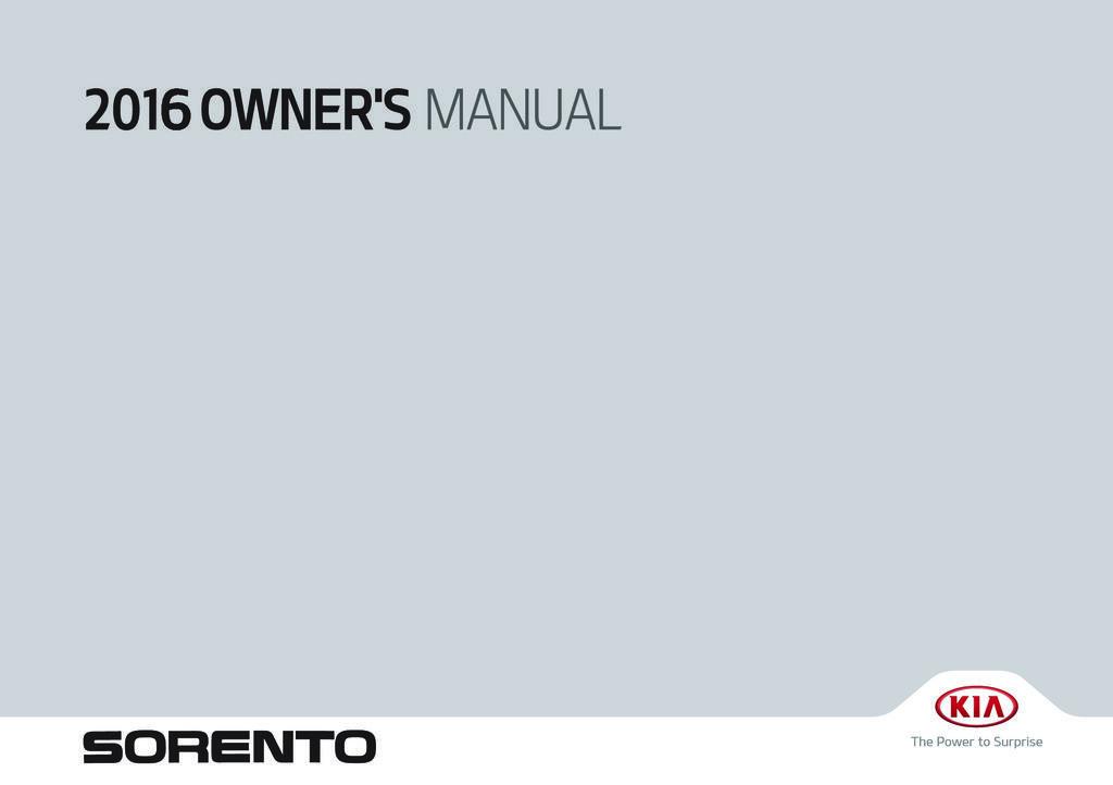 2016 Kia Sorento owners manual