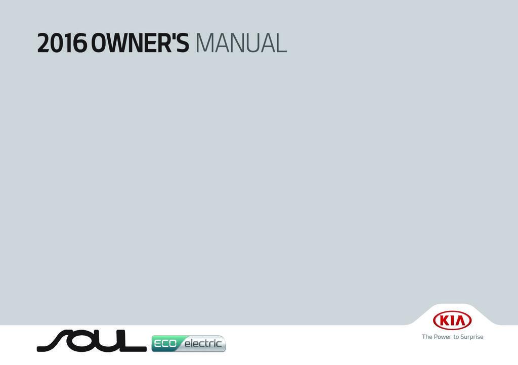 2016 Kia Soul Ev owners manual