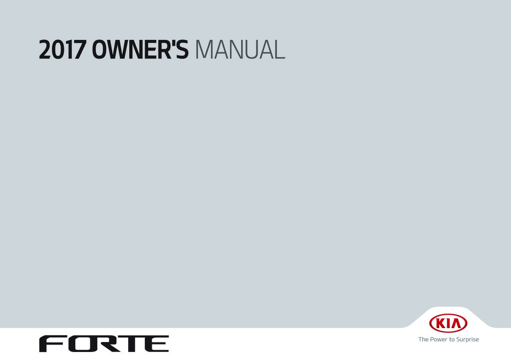 2017 Kia Forte owners manual