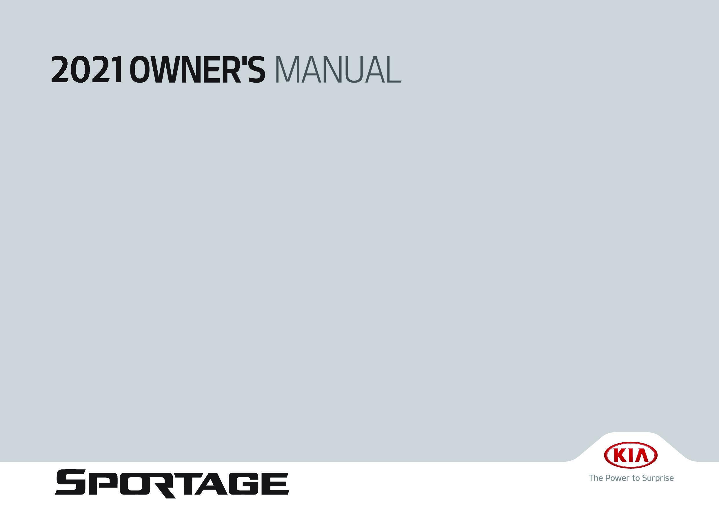2021 Kia Sportage owners manual