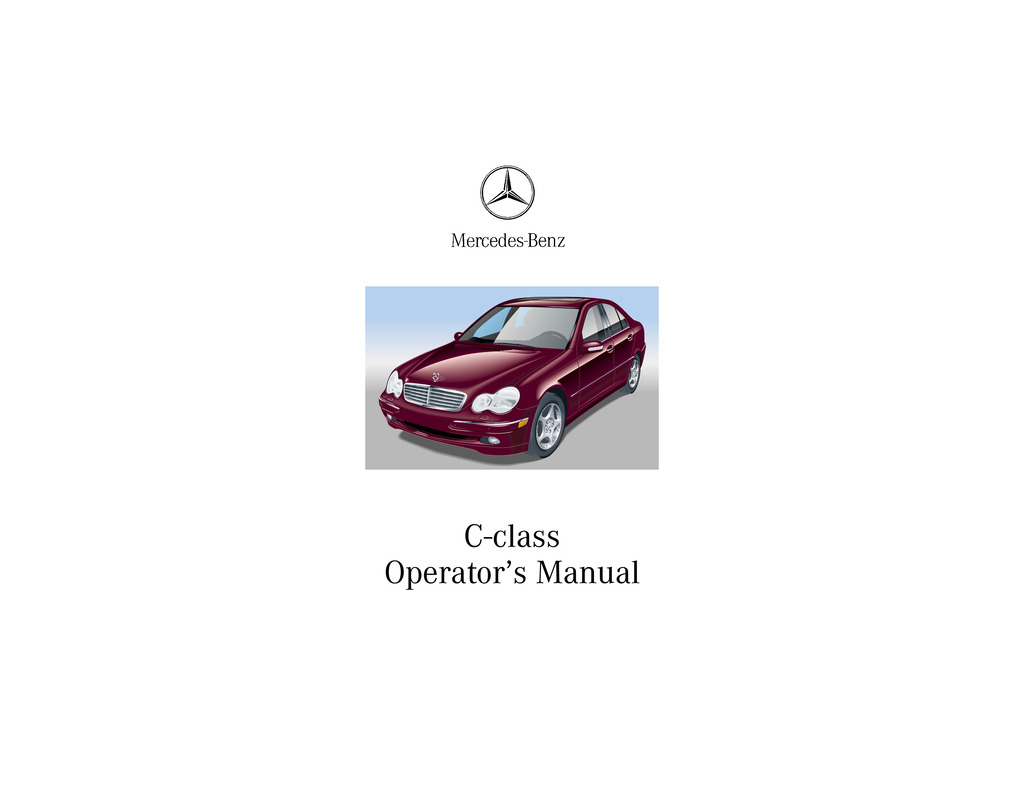 2001 Mercedes-Benz C Class owners manual