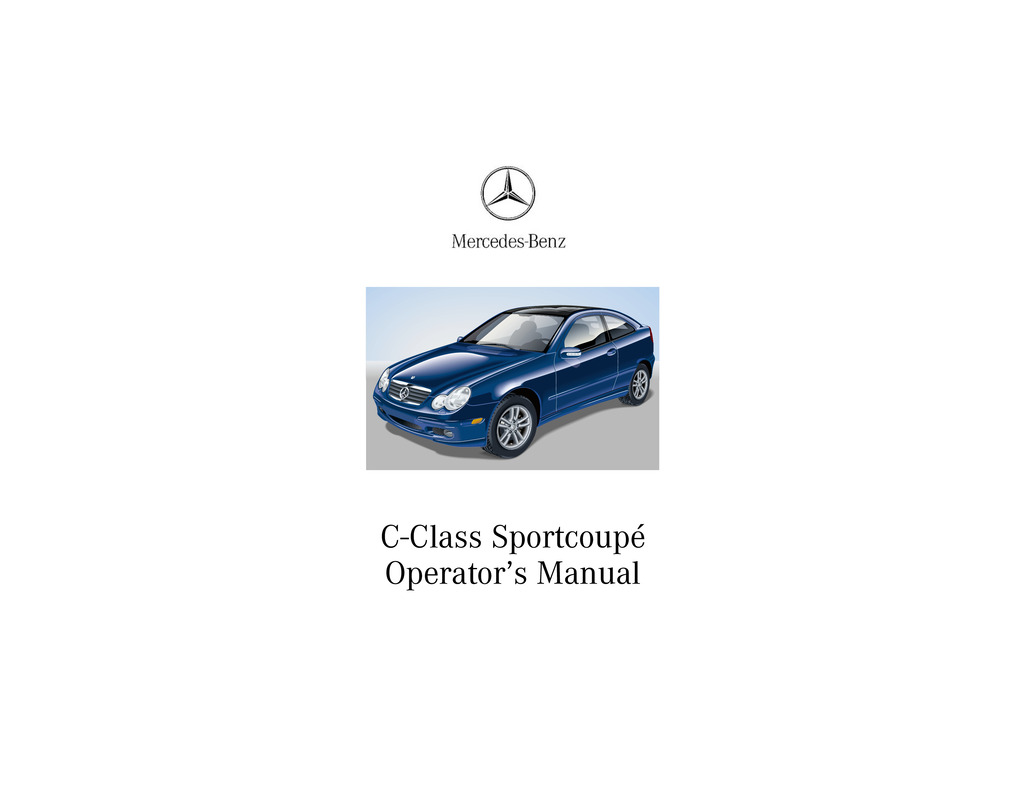 2002 Mercedes-Benz C Class Coupe owners manual