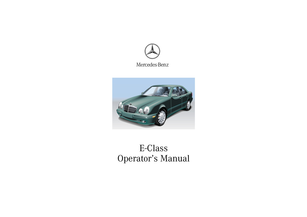 2002 Mercedes-Benz E Class owners manual