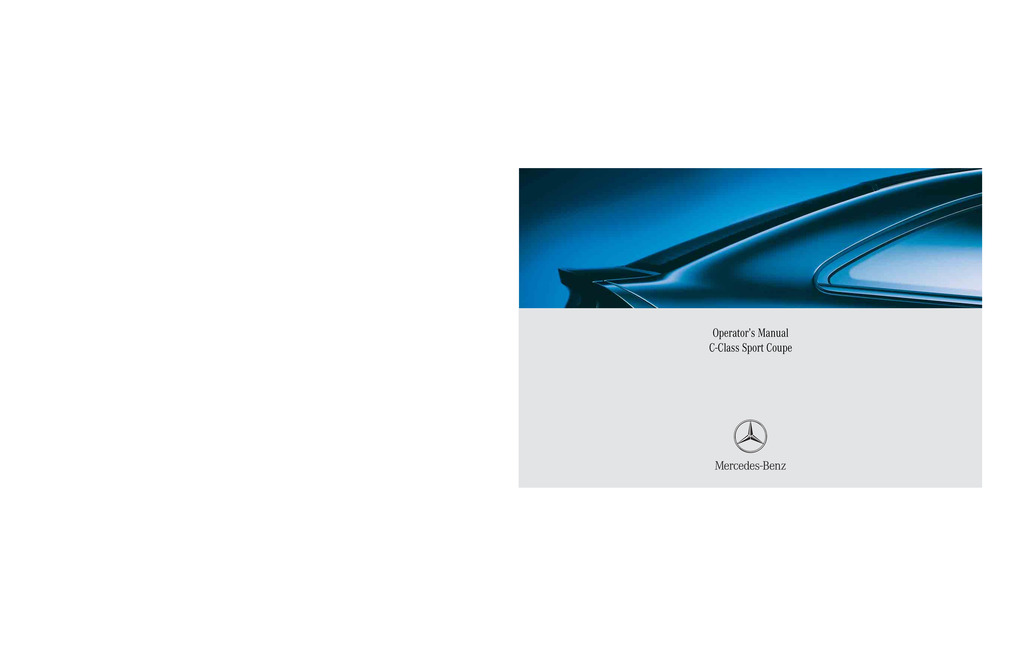 2005 Mercedes-Benz C Class Coupe owners manual