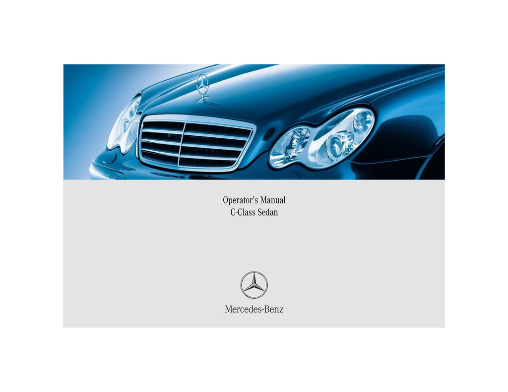 2005 Mercedes-Benz C Class owners manual