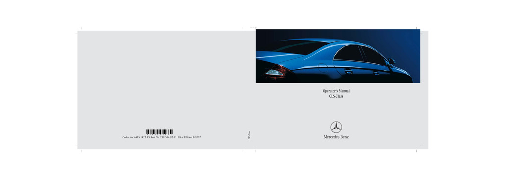 2007 Mercedes-Benz CLS Class owners manual