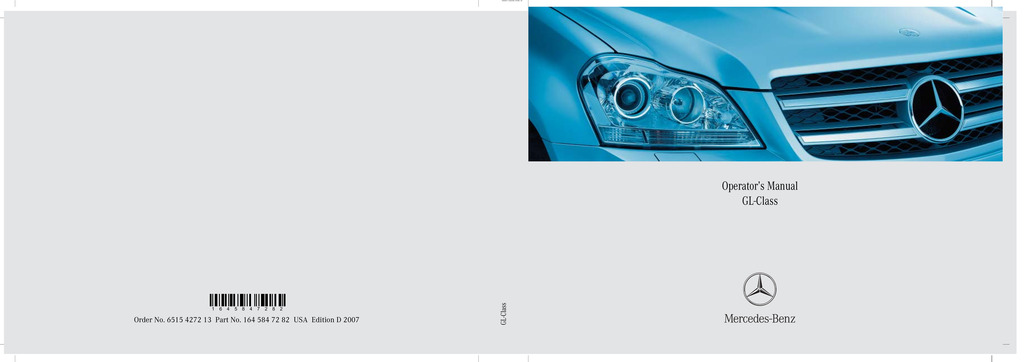 2007 Mercedes-Benz GL Class owners manual