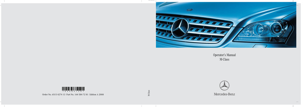 2008 Mercedes-Benz M Class owners manual