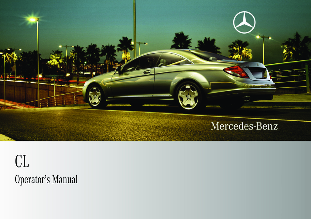 2009 Mercedes-Benz CL Class owners manual