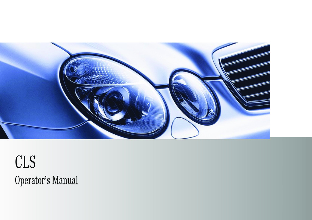 2009 Mercedes-Benz CLS owners manual