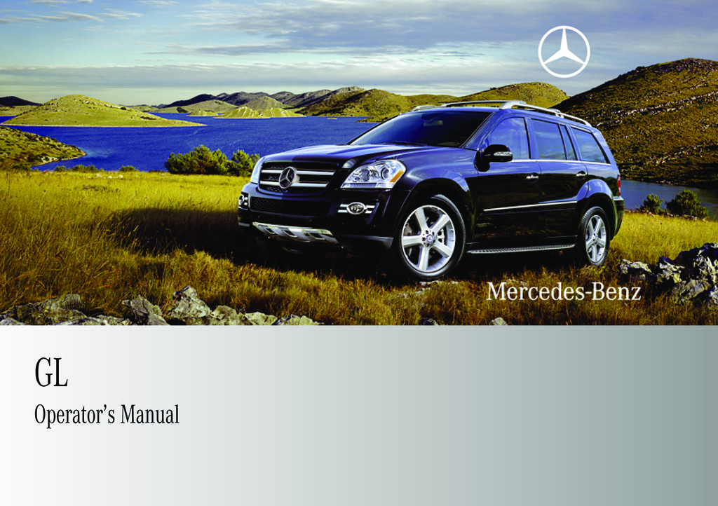 2009 Mercedes-Benz GL owners manual