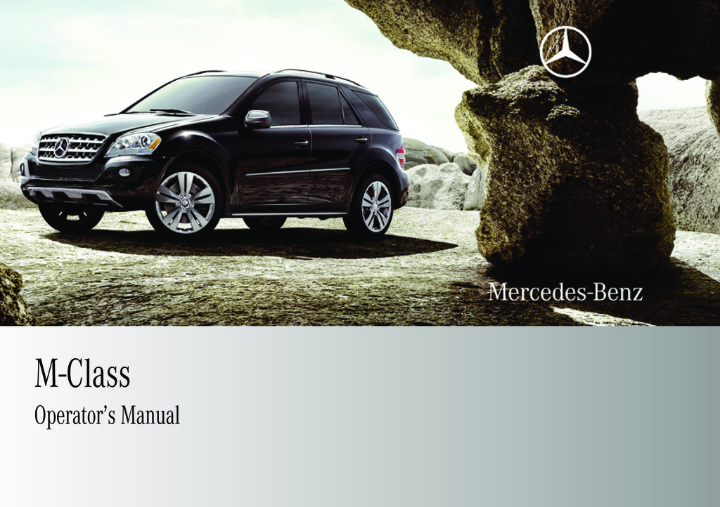 2009 Mercedes-Benz M Class owners manual