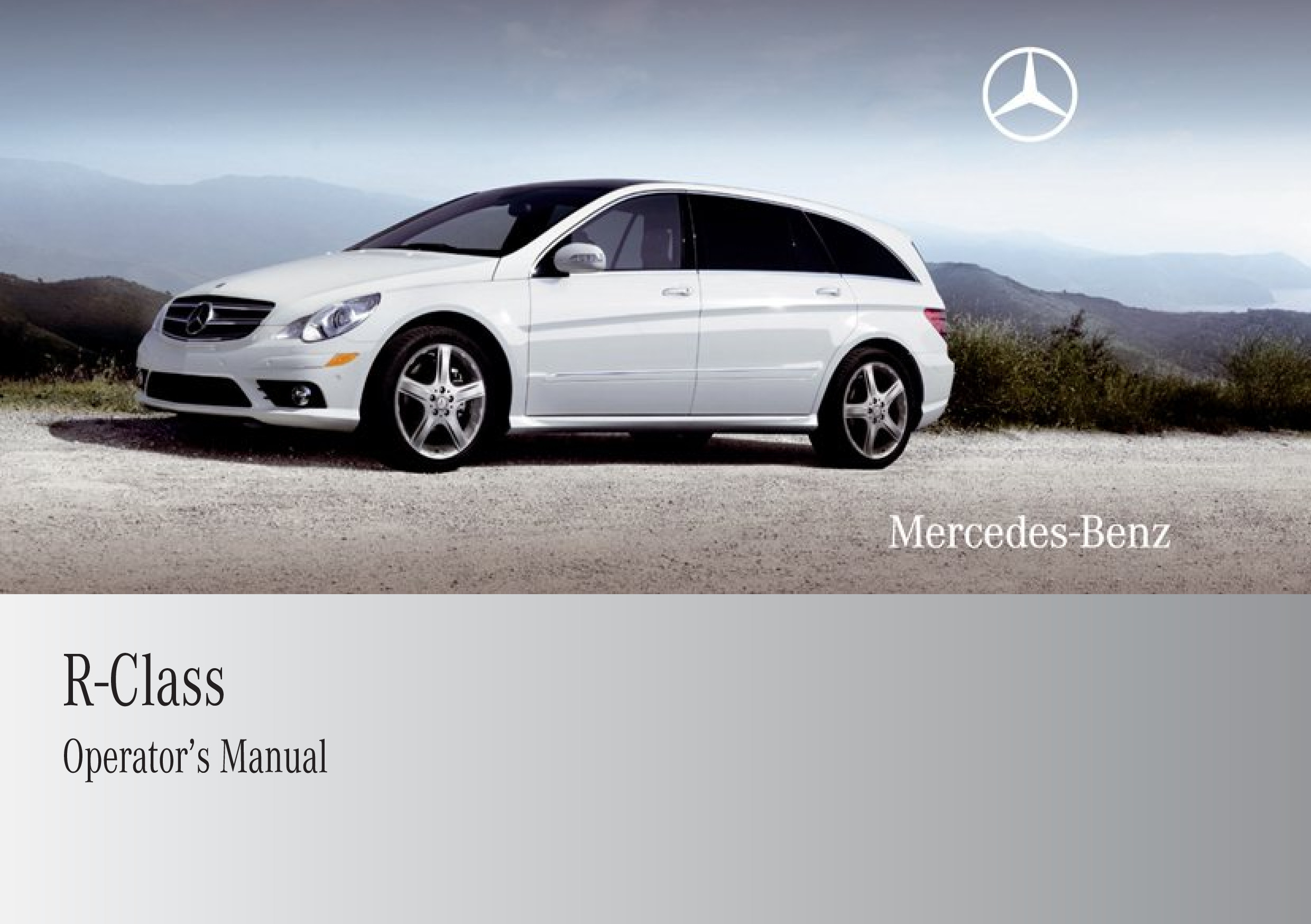 2009 Mercedes-Benz R Class owners manual