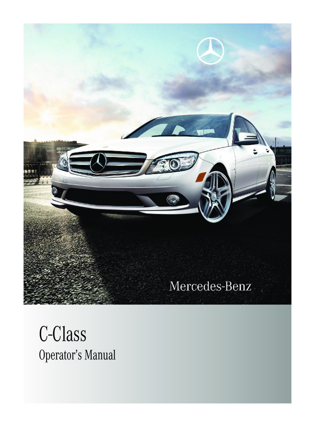 2010 Mercedes-Benz C Class owners manual