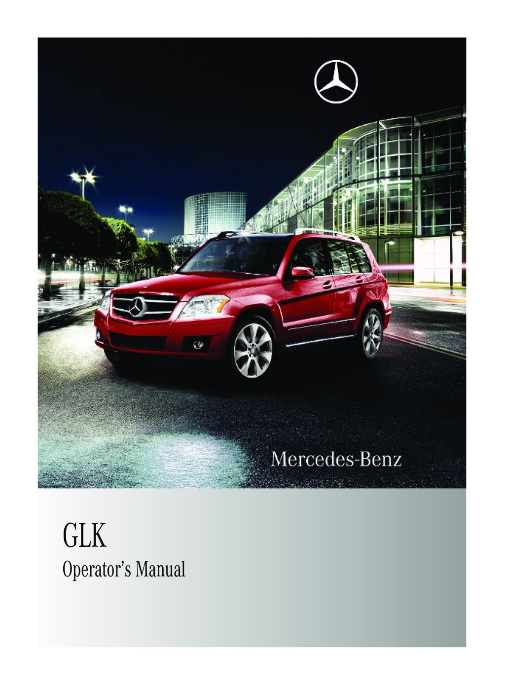 2010 Mercedes-Benz GLK Class owners manual