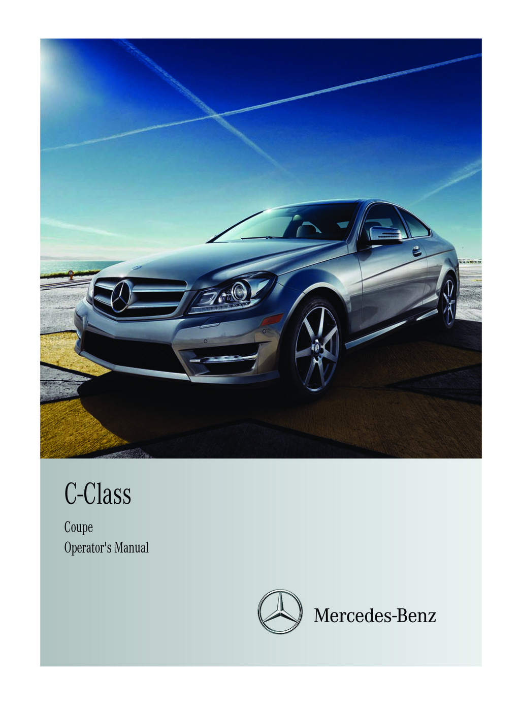 2011 Mercedes-Benz C Class Coupe owners manual