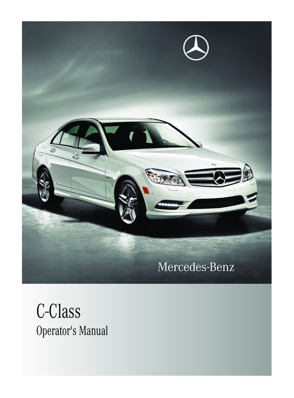 2011 Mercedes-Benz C Class owners manual