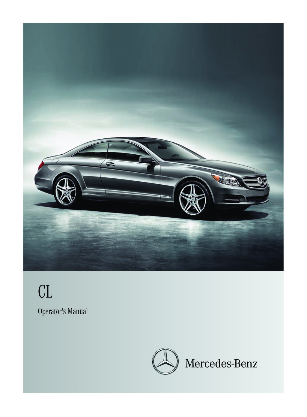 2011 Mercedes-Benz CL Class owners manual