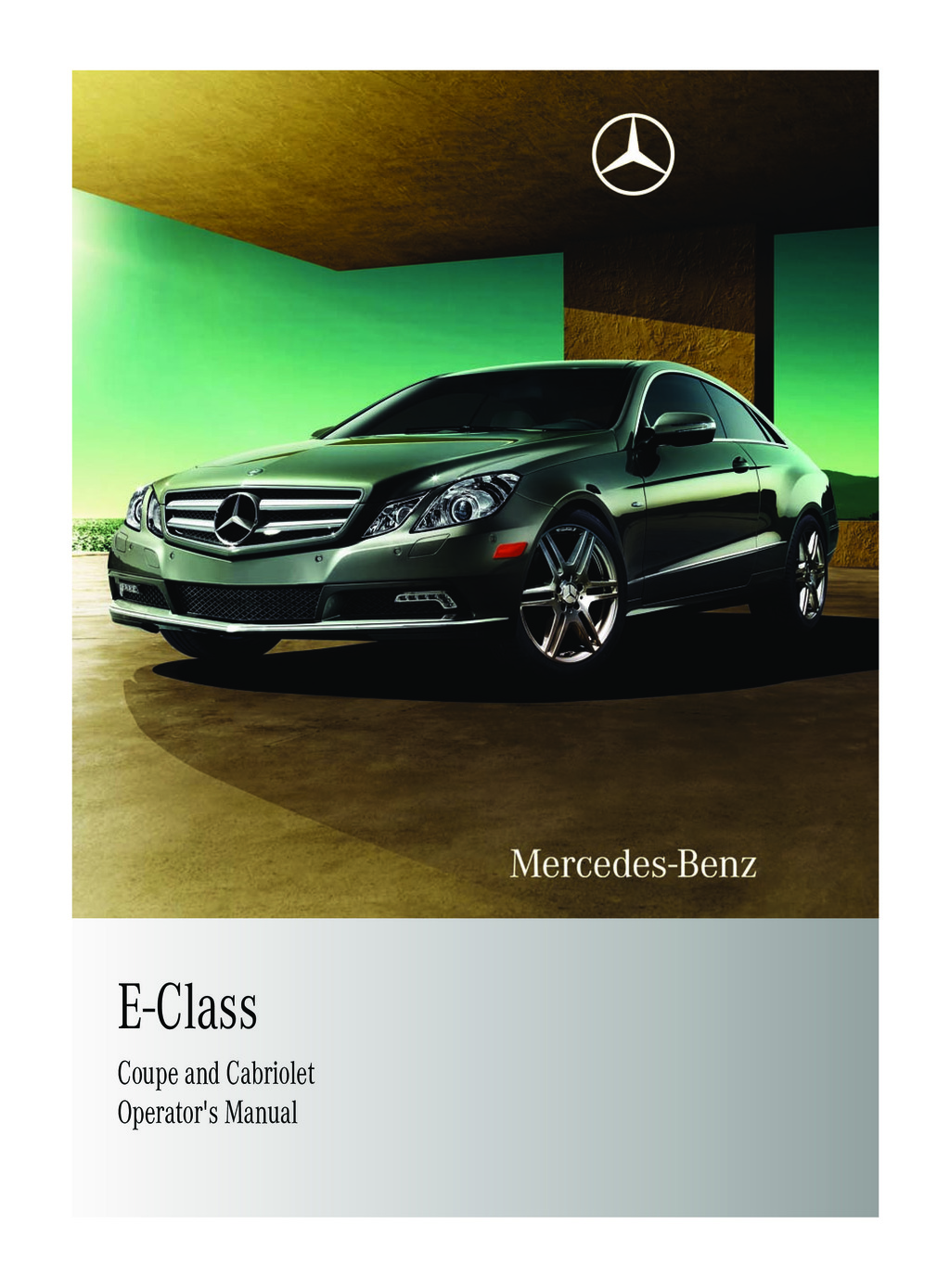 2011 Mercedes-Benz E Class Coupe owners manual