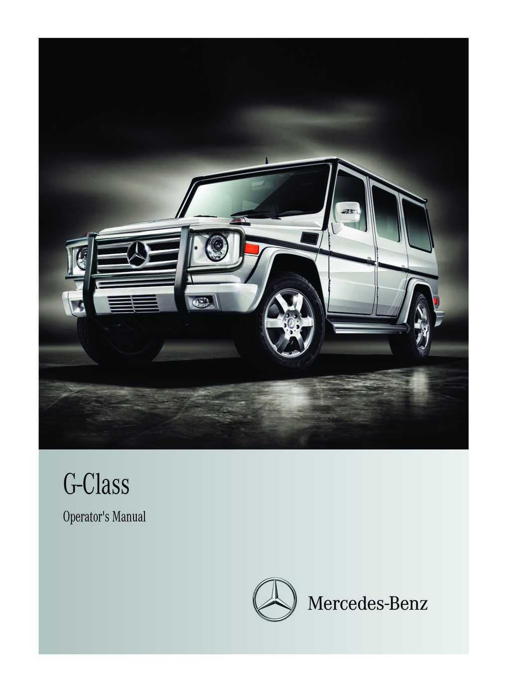 2011 Mercedes-Benz G Class owners manual