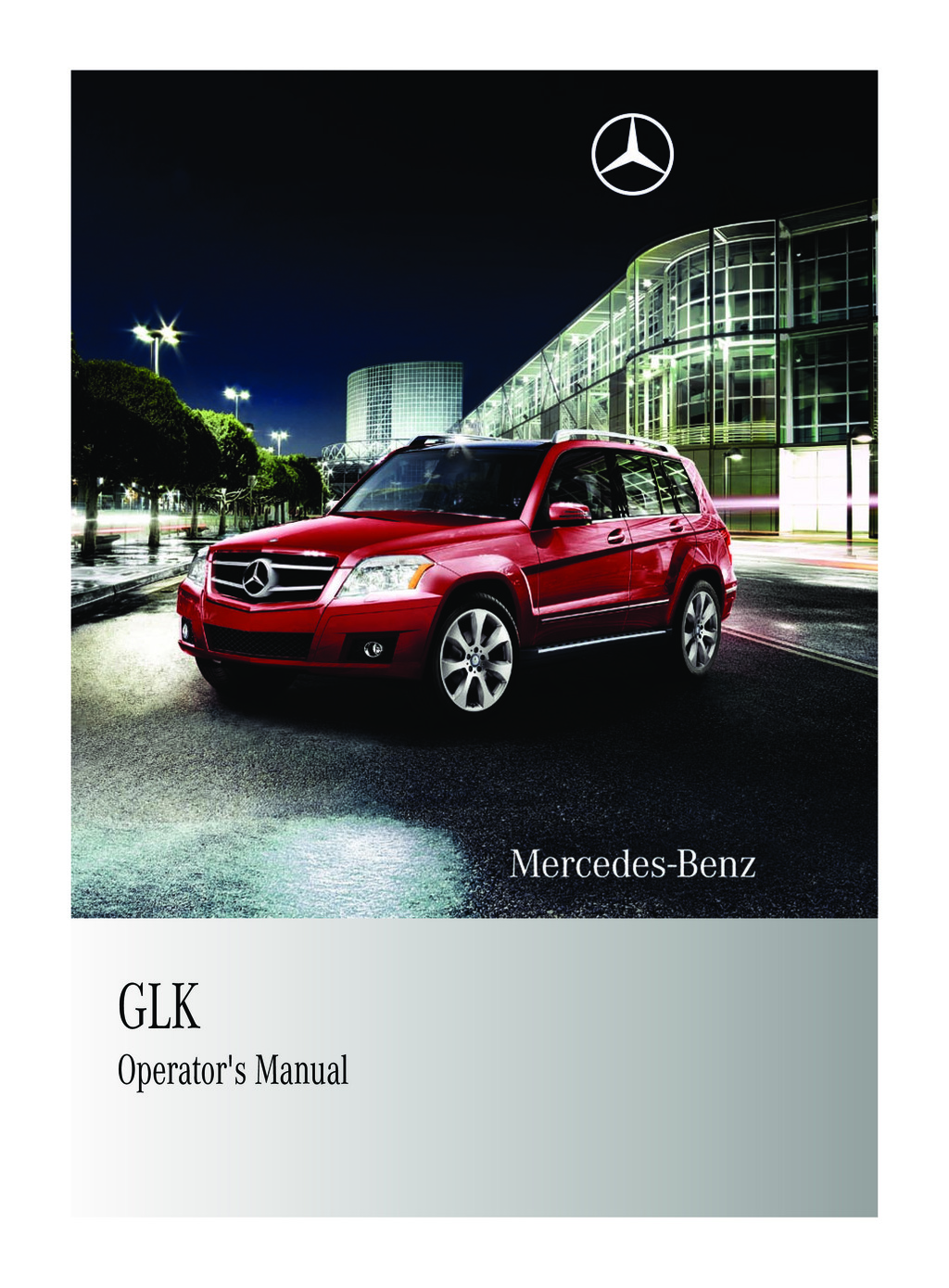 2011 Mercedes-Benz GLK Class owners manual