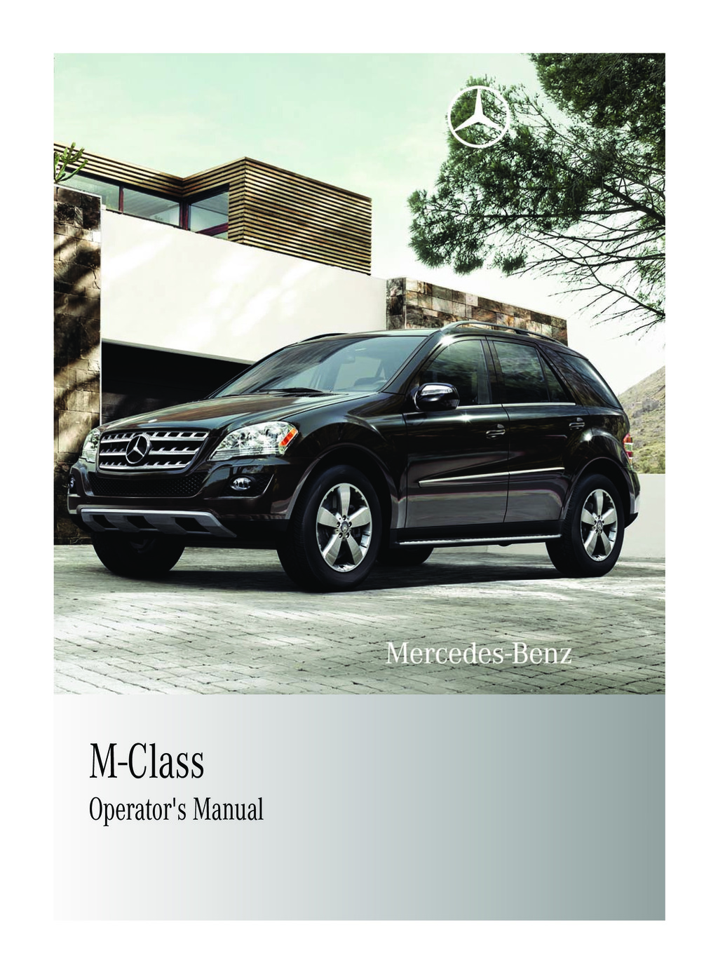 2011 Mercedes-Benz M Class owners manual