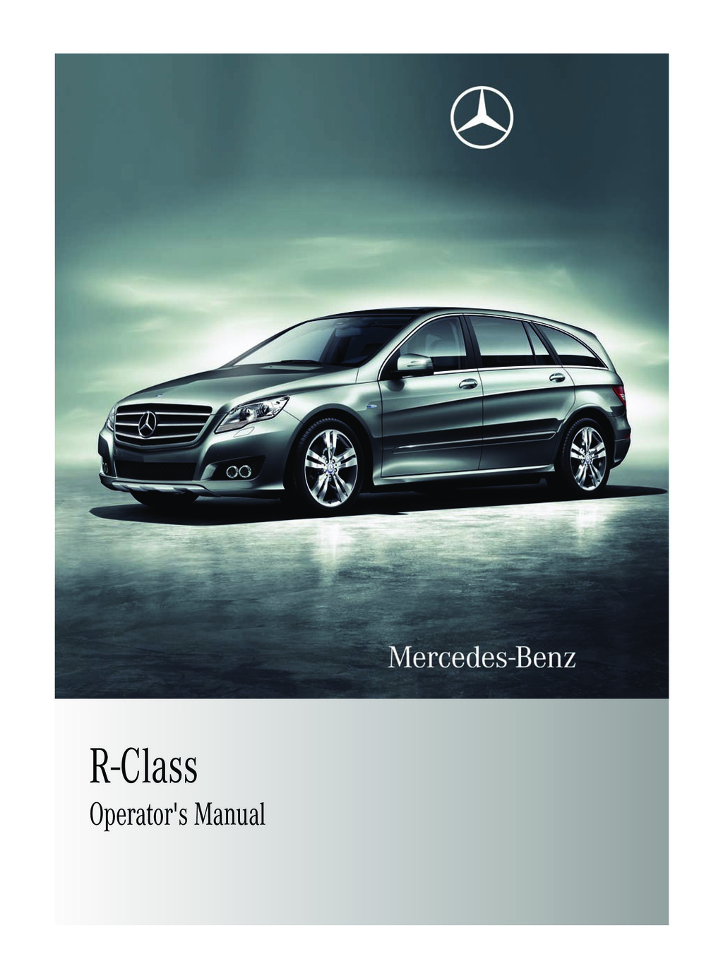 2011 Mercedes-Benz R Class owners manual