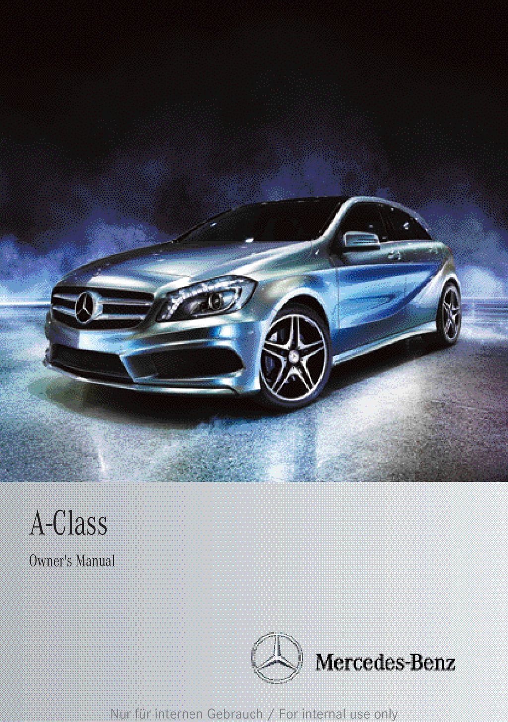2012 Mercedes-Benz A Class owners manual