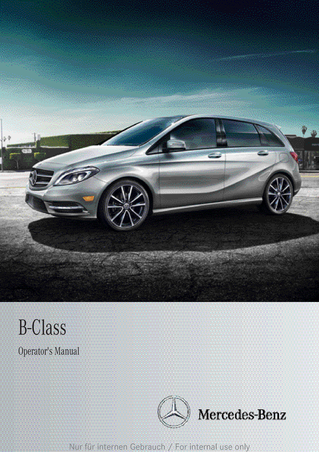 2012 Mercedes-Benz B Class owners manual