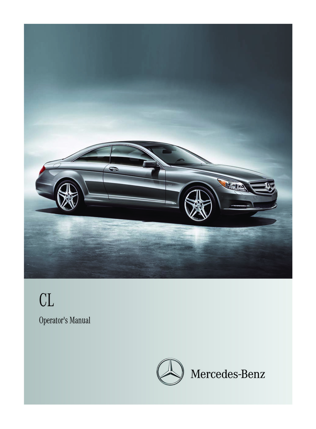 2012 Mercedes-Benz CL Class owners manual