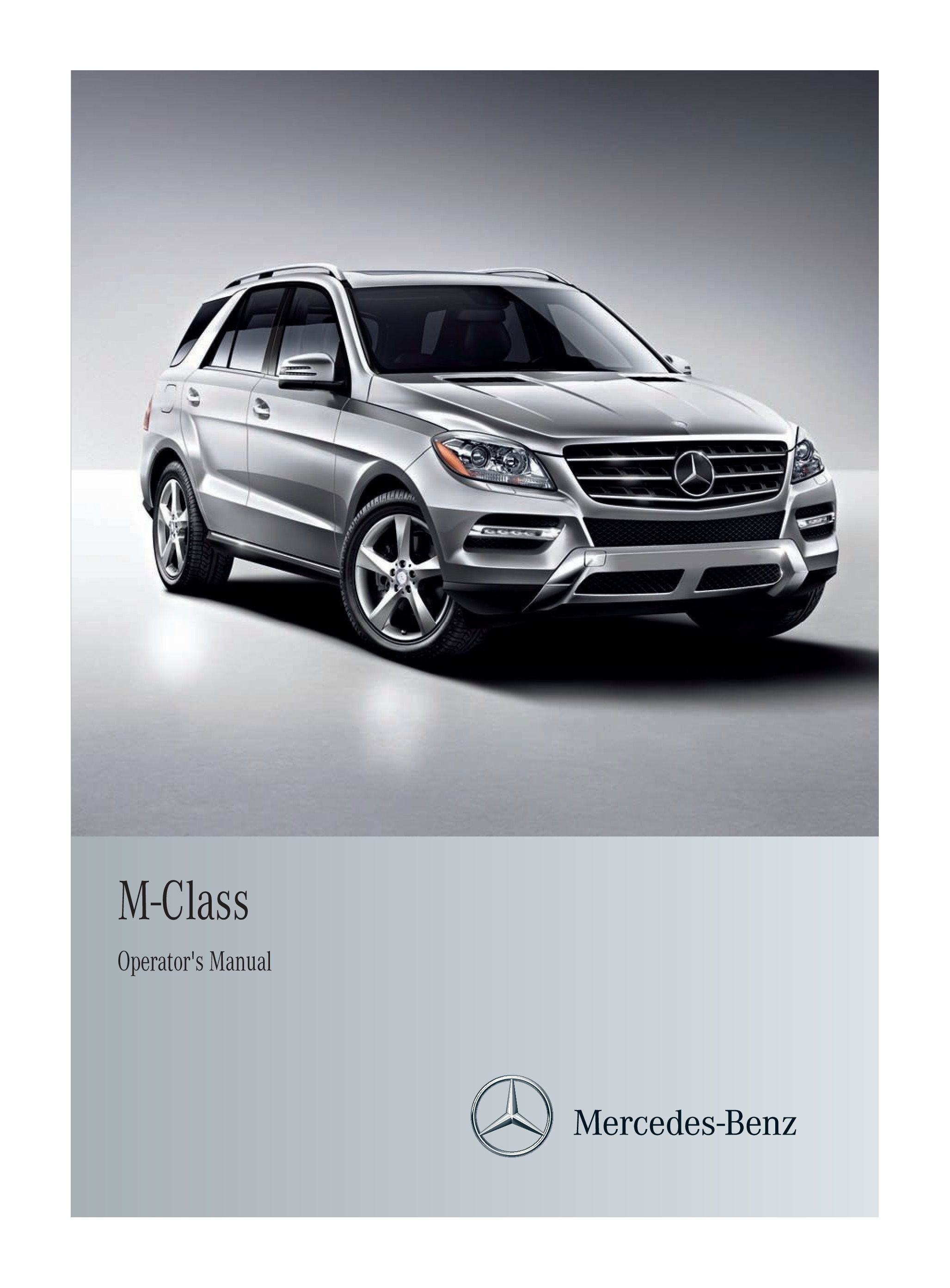 2012 Mercedes-Benz M Class owners manual