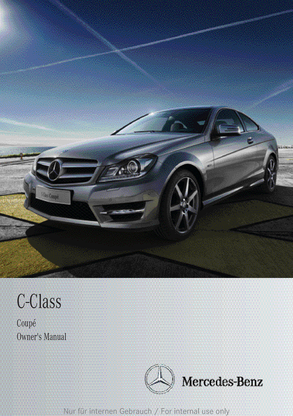 2013 Mercedes-Benz C Class Coupe owners manual
