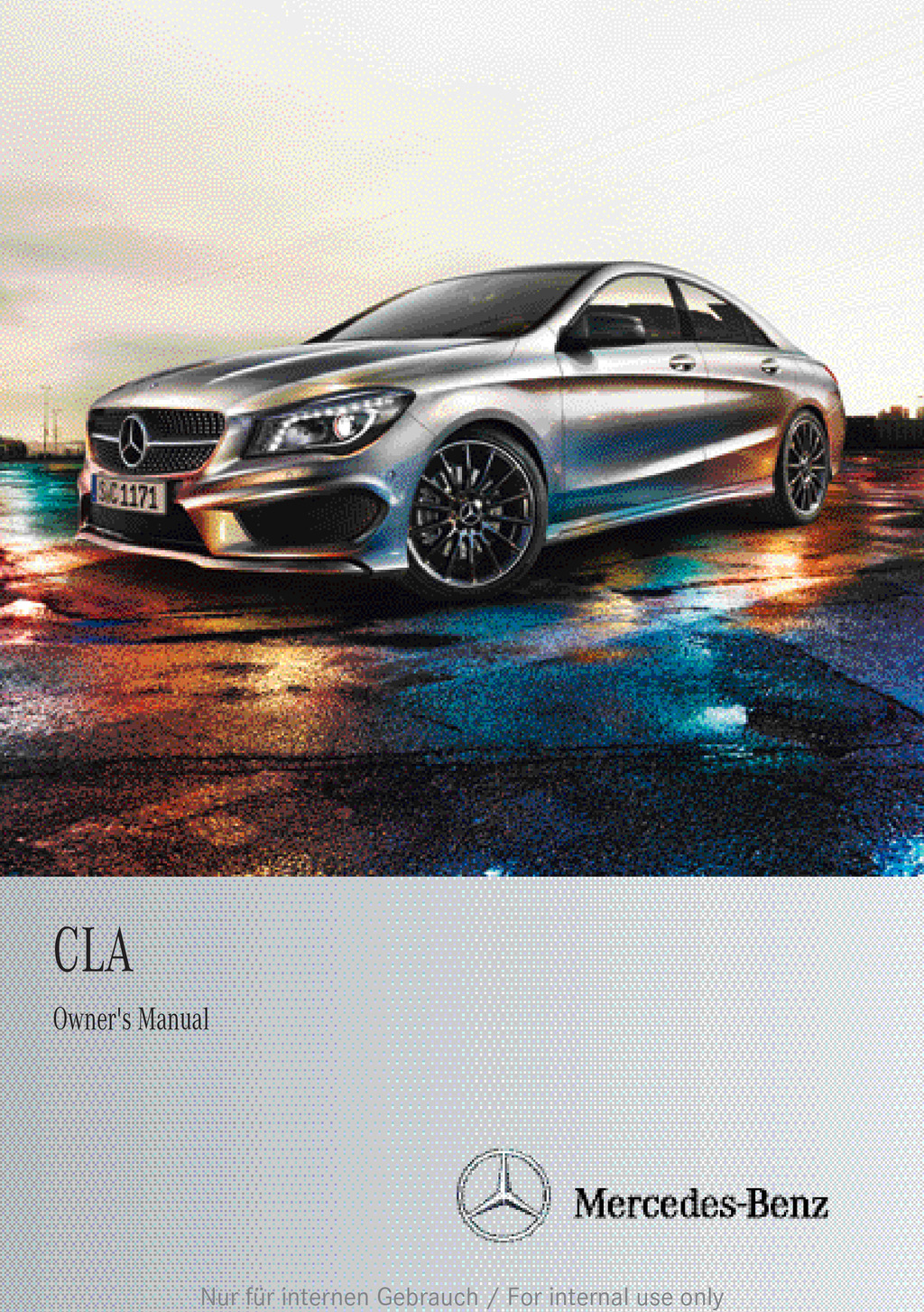 2013 Mercedes-Benz CLA owners manual