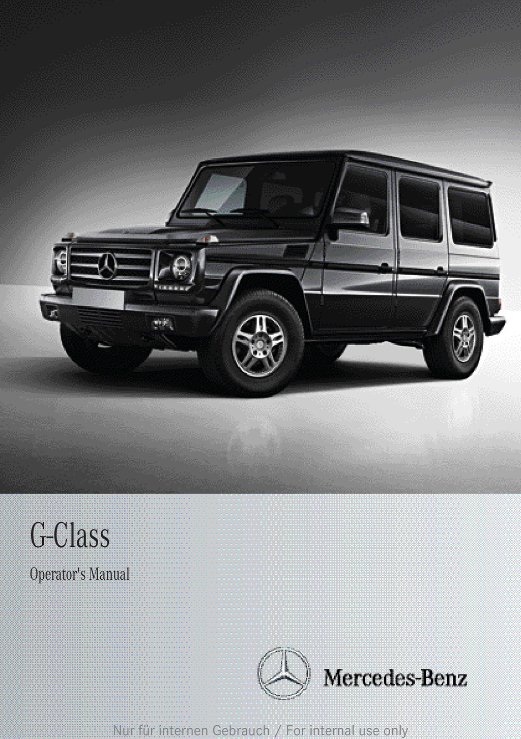 2013 Mercedes-Benz G Class owners manual