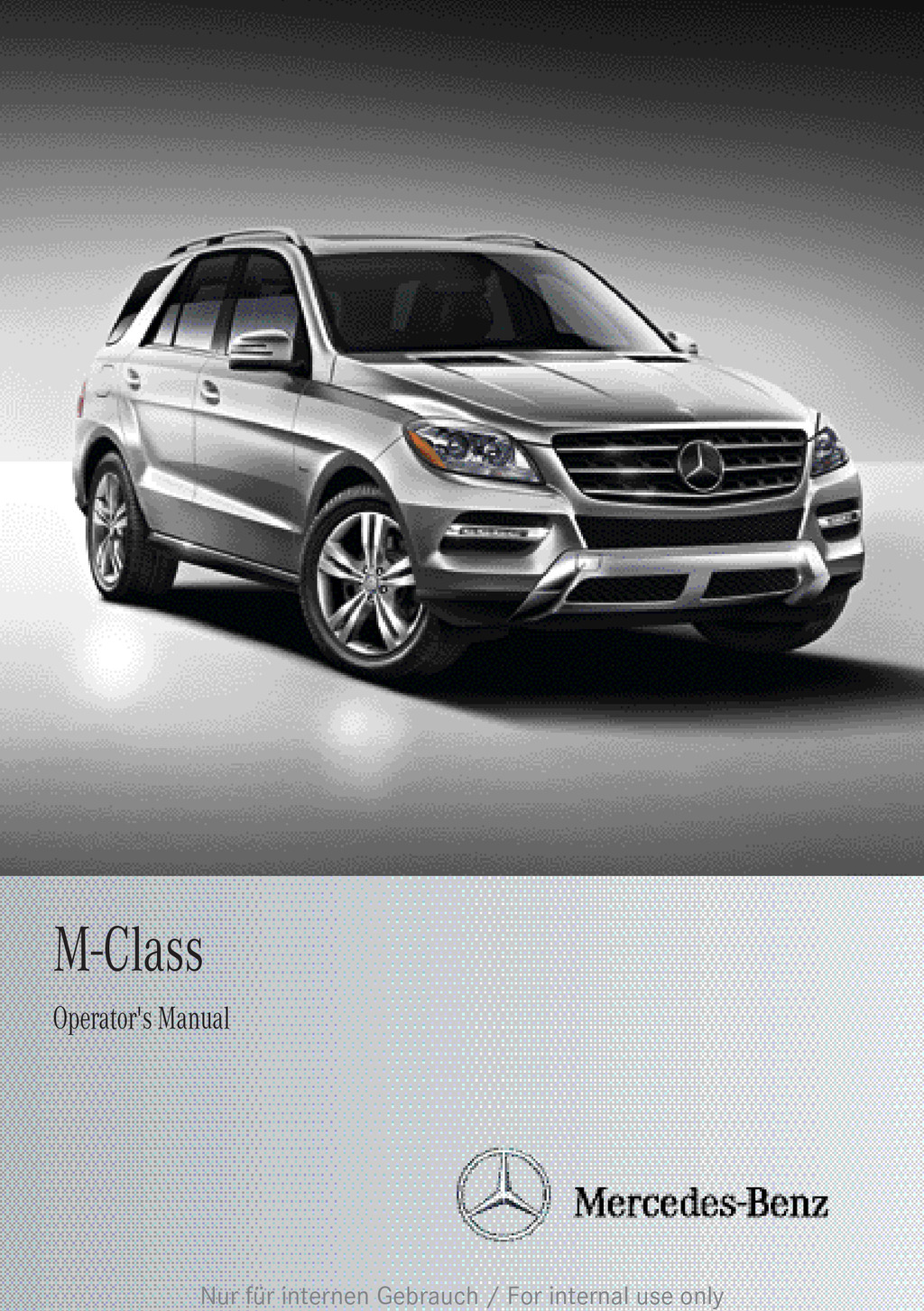 2013 Mercedes-Benz M Class owners manual
