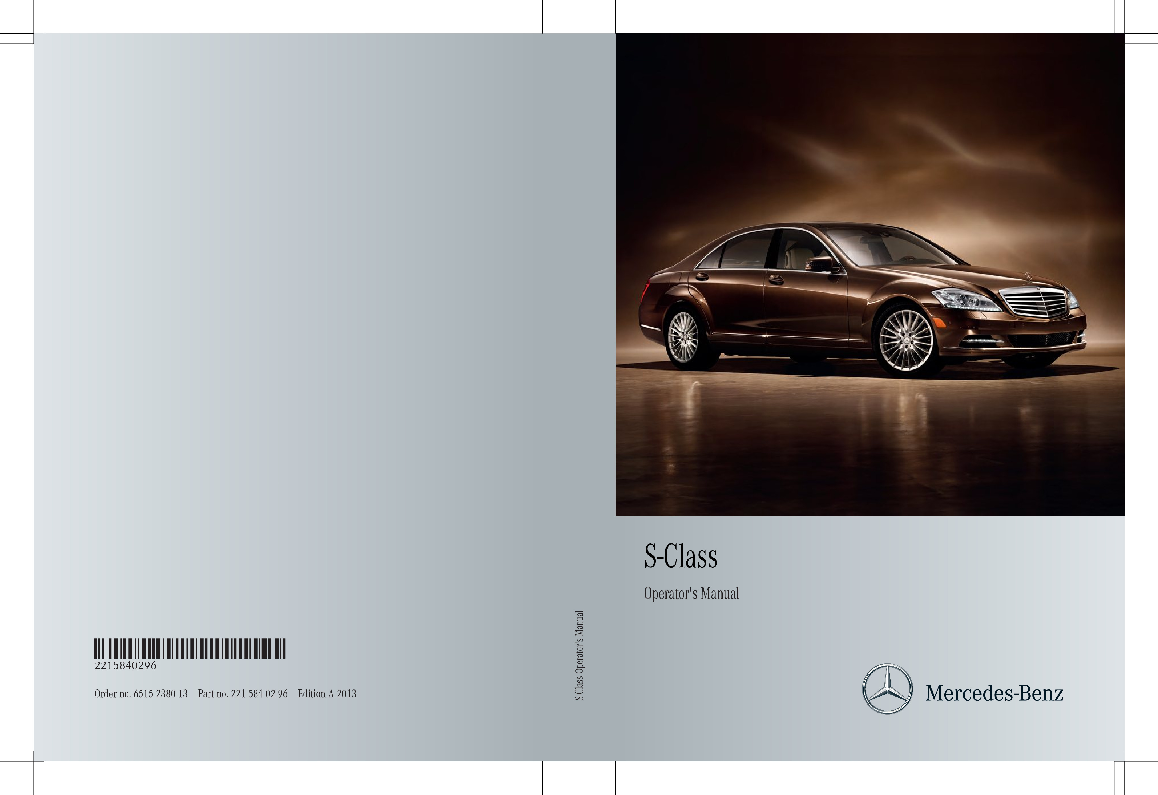 2013 Mercedes-Benz S Class owners manual