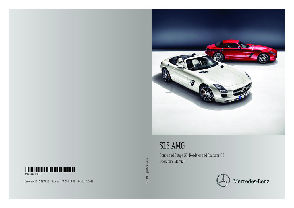 2013 Mercedes-Benz SLS AMG owners manual