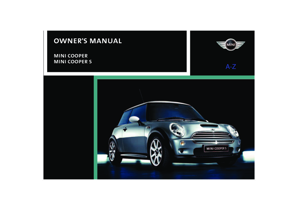 2004 Mini Cooper owners manual