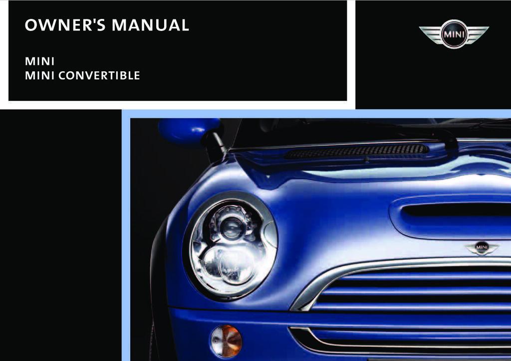 2006 Mini Cooper owners manual