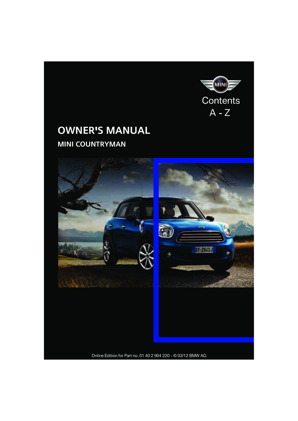 2012 Mini Countryman owners manual