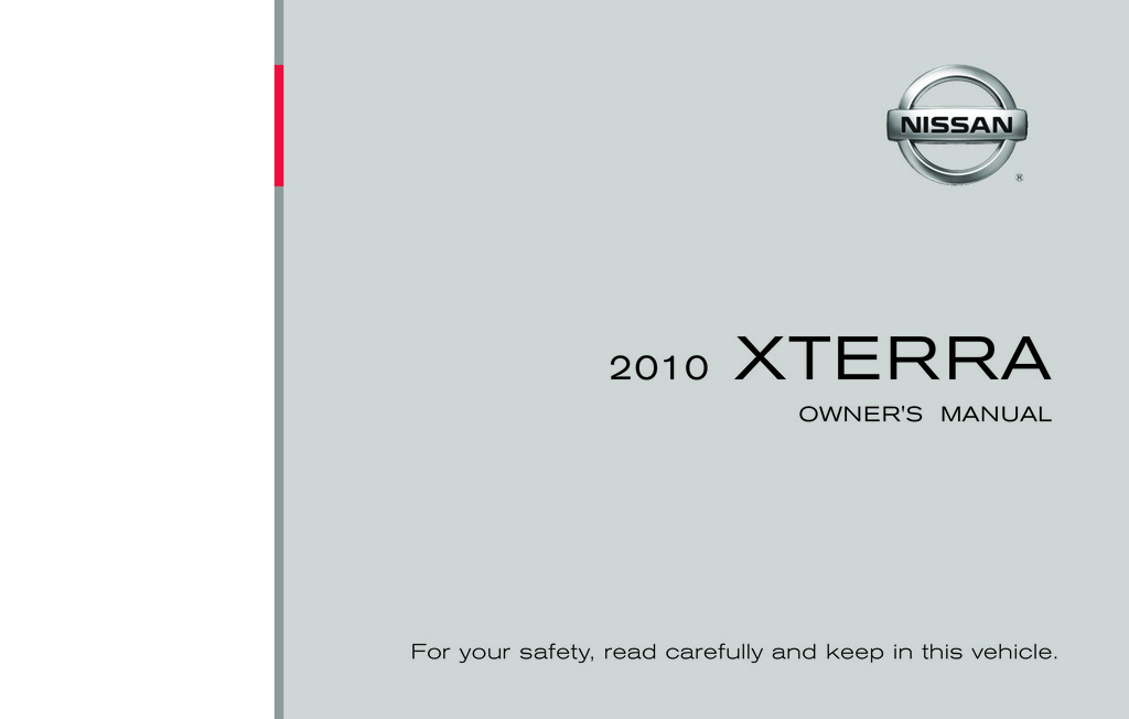 2010 Nissan Xterra owners manual