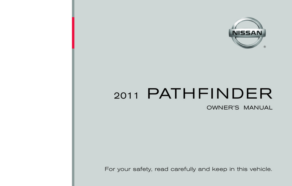 2011 Nissan Pathfinder owners manual
