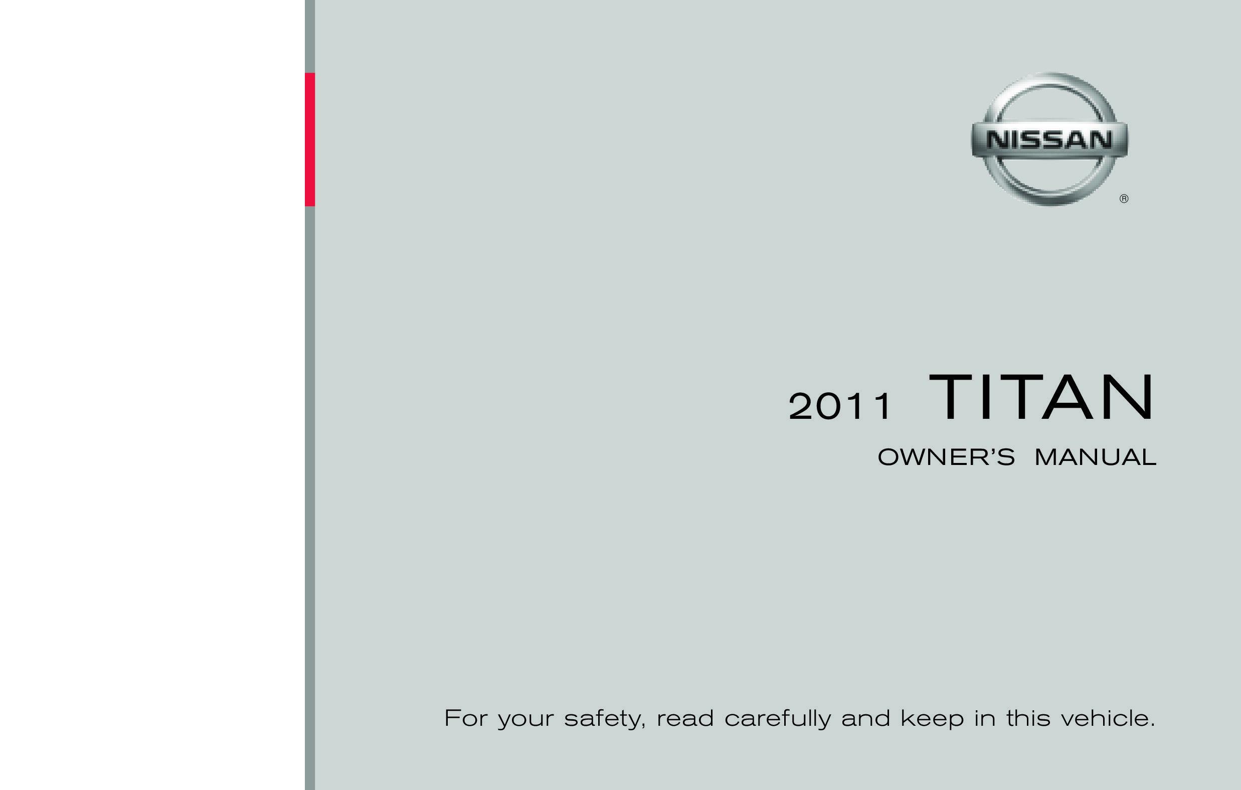 2011 Nissan Titan owners manual
