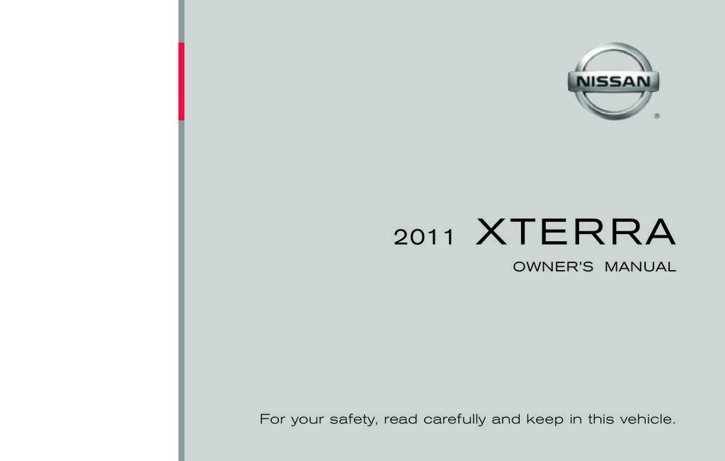 2011 Nissan Xterra owners manual