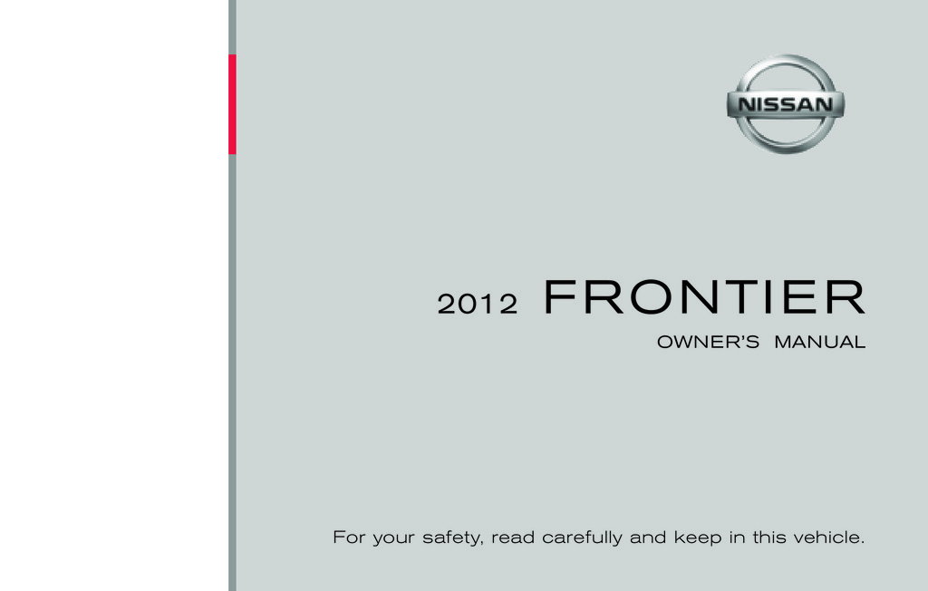 2012 Nissan Frontier owners manual