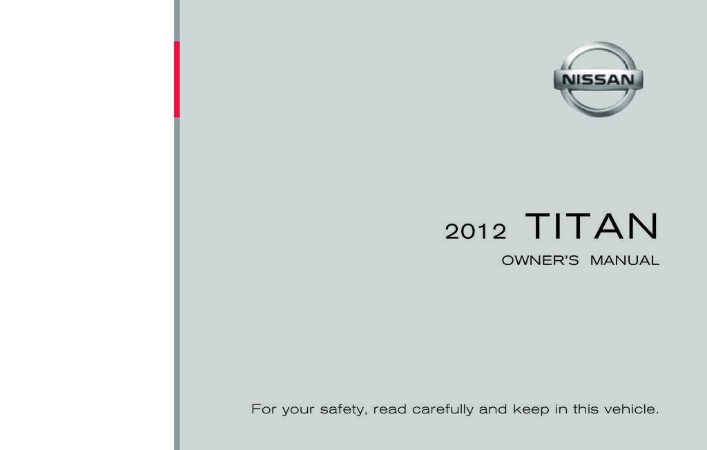 2012 Nissan Titan owners manual