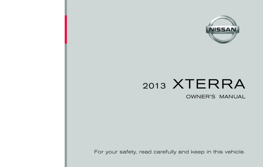 2013 nissan xterra owner's manual